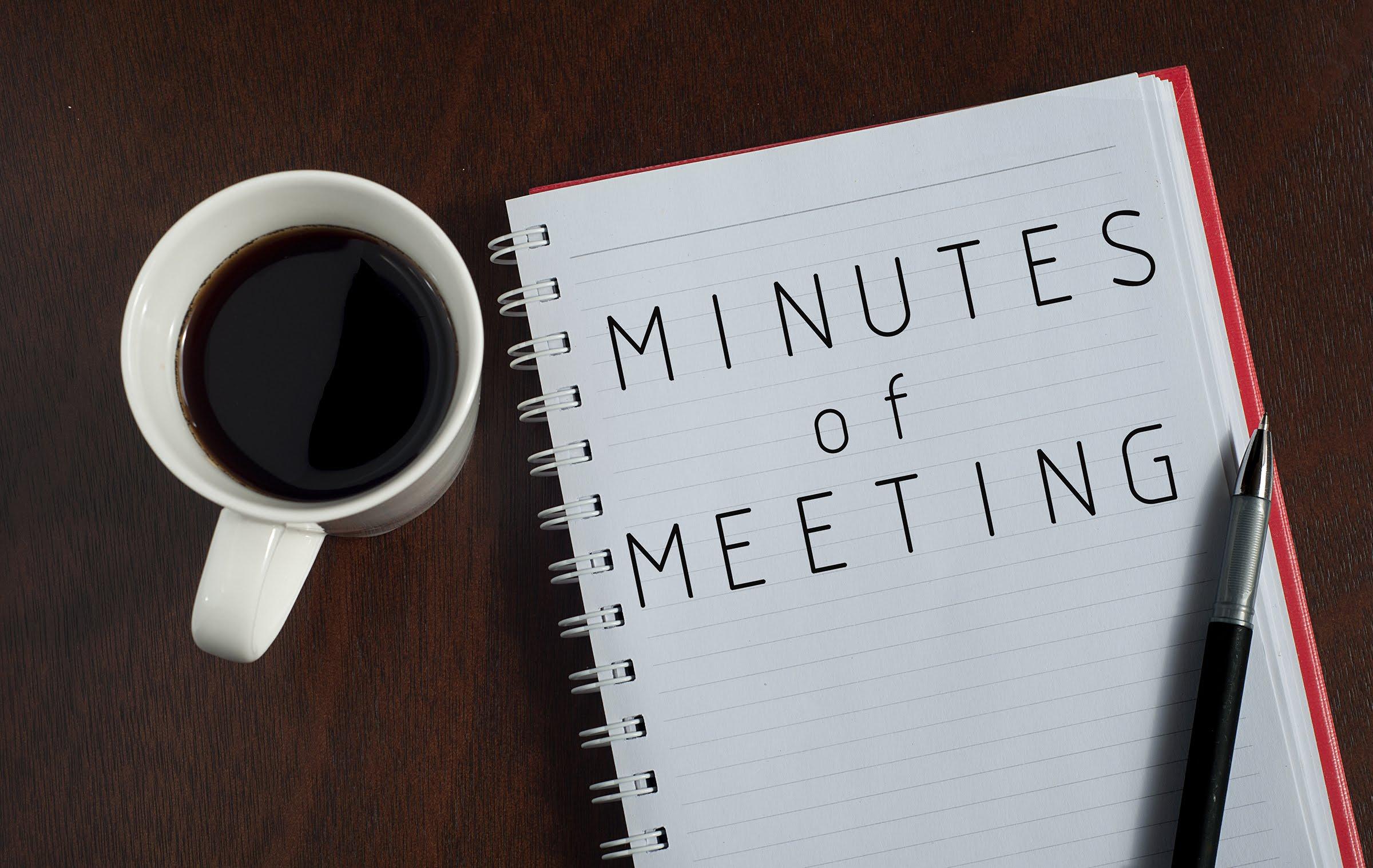 minutes at a meeting